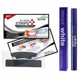 Set 7 Benzi Albirea Dintilor cu Nano Carbune Activ + Creion Bright White