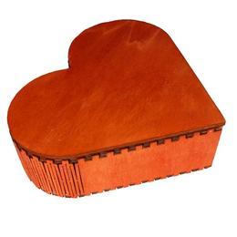 Cutie inimioara din lemn handmade pentru cadou, bijuterii, pandative, trusa machiaj - Piksel
