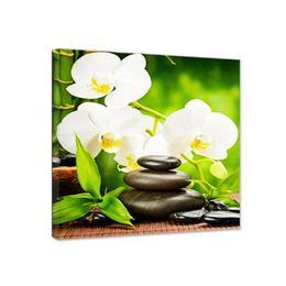 Tablou canvas patrat orhidee alba 80x80 cm decoratiune interior - Piksel