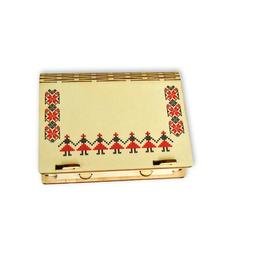Cutie din lemn cu motive traditionale pentru cadouri, bijuterii, pandantive - Piksel