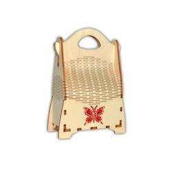 Punga de cadou 15,40x10,40x5 cm ambalaj de lux din lemn - Piksel