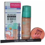 Set machiaj Bourjois Paris - Make Up Kit BB Bronze Up contine  3 produse: BB Cream, Fard de obraz si Tus de Ochi
