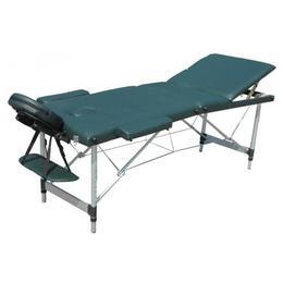 Masa de masaj D&S - portabila - verde, cadru aluminiu