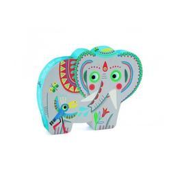 Puzzle elefantul asiatic, 24 piese, Djeco