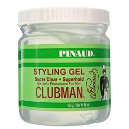 Gel Transparent cu Fixare Puternica - Clubman Pinaud Styling Gel Super Clear 453 ml