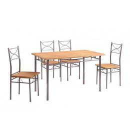 Set masa Vera cu 4 scaune, natur - Unic Spot Ro