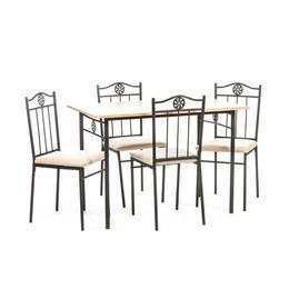 Set masa Victory natur cu 4 scaune - Unic Spot Ro