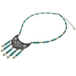 Colier indian cu turcoaze si perle, GlamBazaar