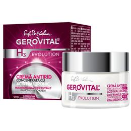 Crema Antirid Concentrata cu Acid Hialuronic - Gerovital H3 Evolution Anti-Wrinkle Concentrated Cream with Hyaluronic Acid, 50ml