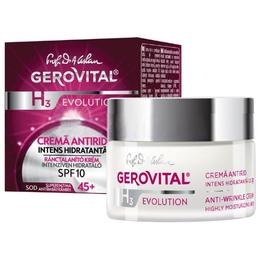 Cremă Antirid Intens Hidratanta SPF 10 - Gerovital H3 Evolution Anti-Wrinkle Highly Moisturizing Cream, 50ml