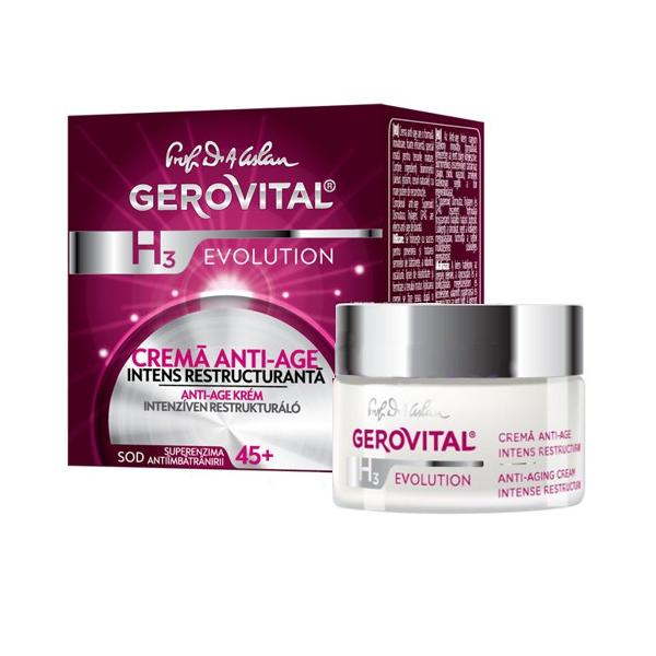 Crema Anti-Age Intens Restructuranta - Gerovital H3 Evolution Anti-Aging Intense Restructuring Cream, 50ml imagine produs