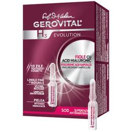 Fiole cu Acid Hialuronic 5% - Gerovital H3 Evolution Hyaluronic Acid Ampoules, 10 fiole x 2 ml