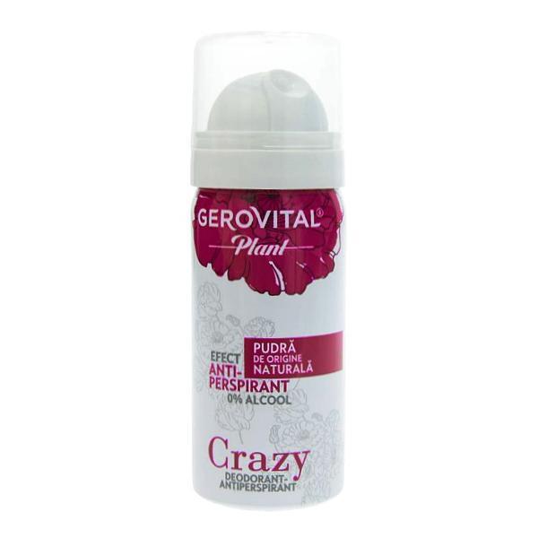 Deodorant Antiperspirant Gerovital Plant - Crazy, 40ml imagine produs