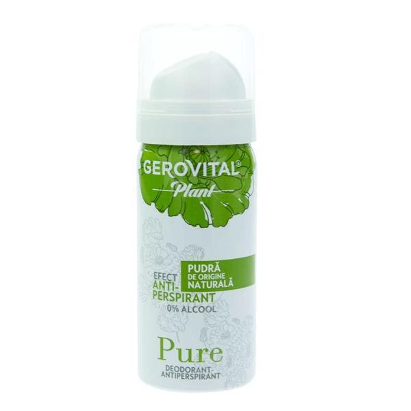 Deodorant Antiperspirant Gerovital Plant - Pure, 40ml imagine produs