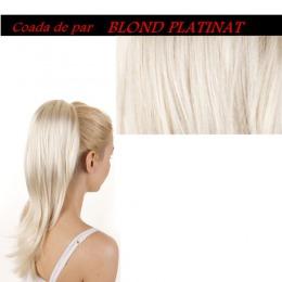 Coada De Par Sintetica  Lungime 55 Cm  Culoare Blond Platinat ( # 613 )