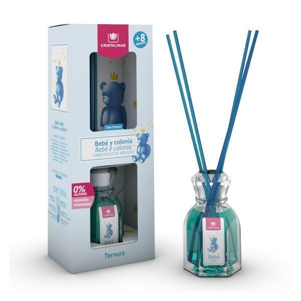 Odorizant cameră Cristalinas 0% alcool Bebe şi colonie - pace, 40 ml imagine produs