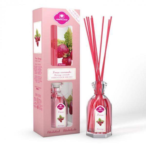 Odorizant cameră Cristalinas 0% alcool Căpșuni și caramel - vitalitate, 180 ml imagine produs