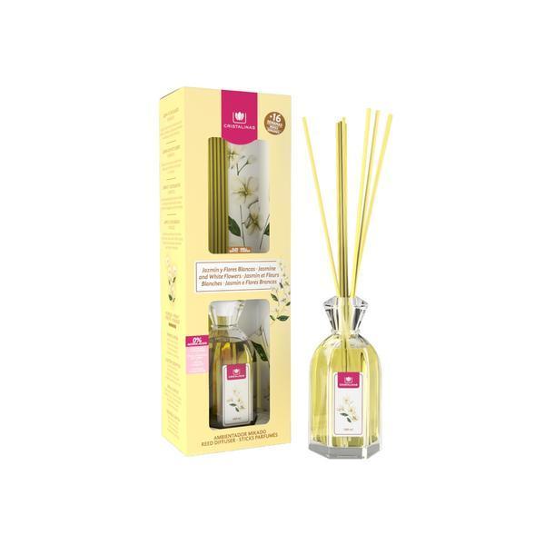 Odorizant cameră Cristalinas 0% alcool Iasomie şi flori albe - inspiraţie, 180 ml imagine produs