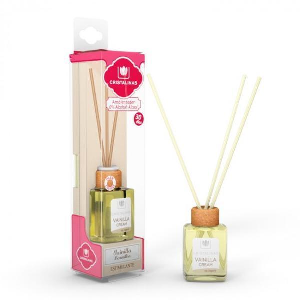 Odorizant cameră Cristalinas 0% alcool Vanilie Cream - stimulare, 18 ml imagine produs