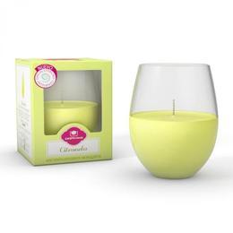 Lumanare naturala parfumata pentru exterior Citronella Cristalinas - antitantari - 405 g
