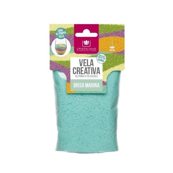 Rezervă lumânare parfumata - Cristalinas - creativă Albastru - briza marină 175 gr imagine produs