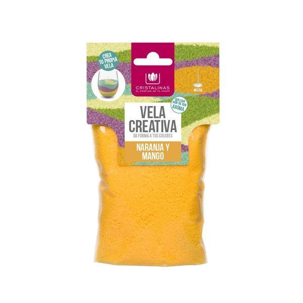 Rezervă lumânare parfumata - Cristalinas - creativă Portocaliu - portocale & mango, 175 gr imagine produs