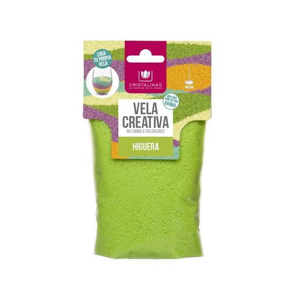 Rezervă lumânare parfumata - Cristalinas - creativă Verde - Smochine 175 gr poza