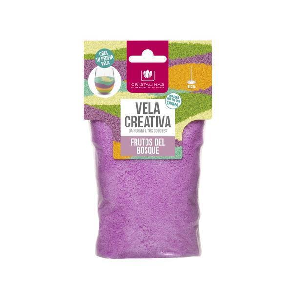 Rezervă lumânare parfumata - Cristalinas - creativă - Violet - fructe de pădure 175 gr imagine produs