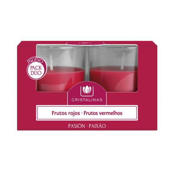 Lumanari naturale parfumate - Cristalinas - fructe rosii (2 bucati * 20 ore) imagine produs