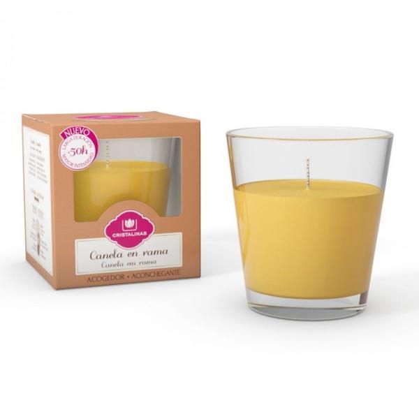 Lumanare naturala parfumata Cristalinas conica - Scortisoara 50 ore - 545 g imagine produs