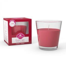 Lumânare naturală parfumata Cristalinas conica, Fructe rosii 50 ore - 545 g