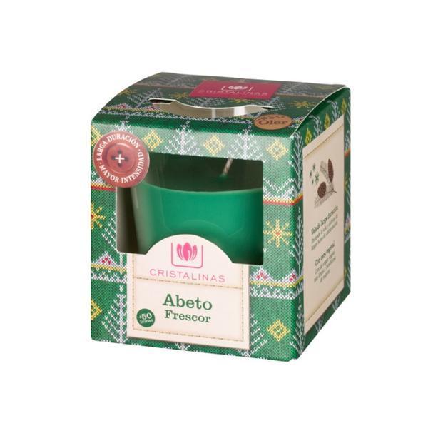 Lumanare naturala parfumata Cristalinas - aroma brad, prospetime (50 ore) - 545 g esteto.ro