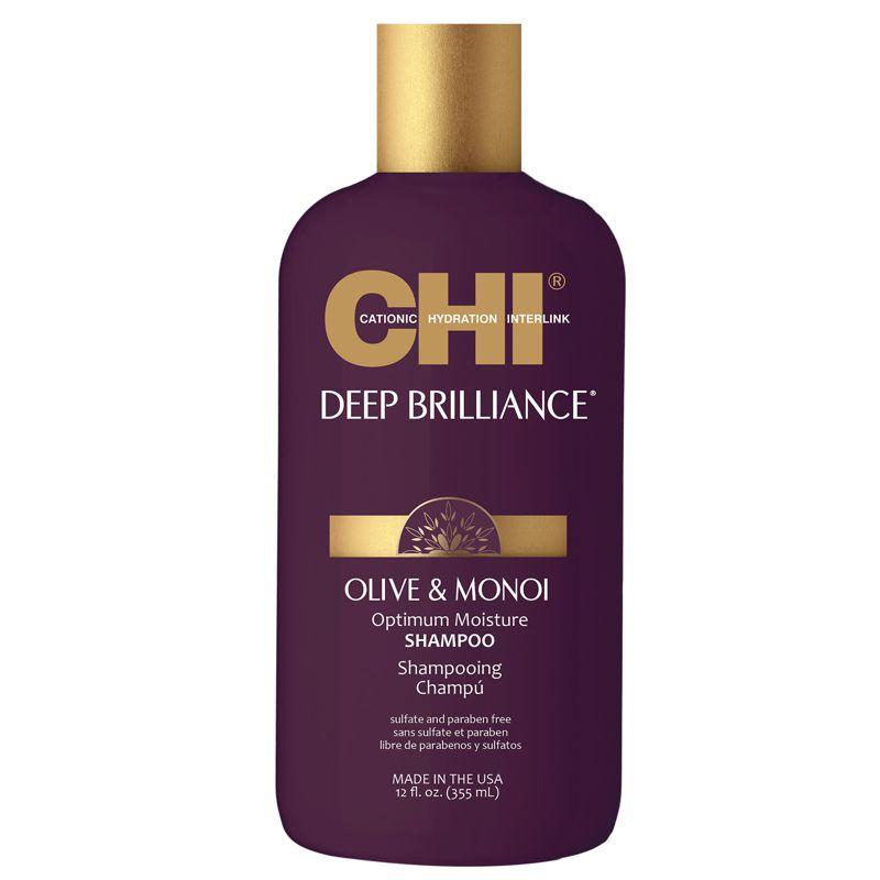 Sampon Nutritiv Par Vopsit - CHI Farouk Olive & Monoi Optimum Moisture Shampoo 355 ml
