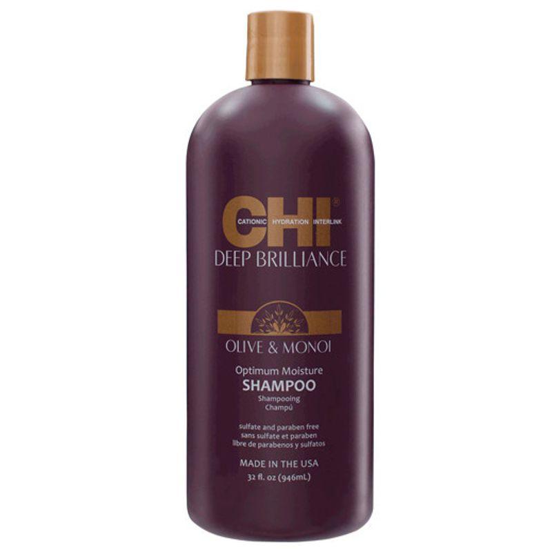 Sampon Nutritiv Par Vopsit - CHI Farouk Olive & Monoi Optimum Moisture Shampoo 946 ml