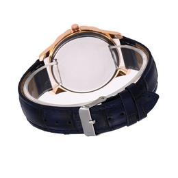 Ceas de dama elegant Geneva, curea piele, cadran cu cristale