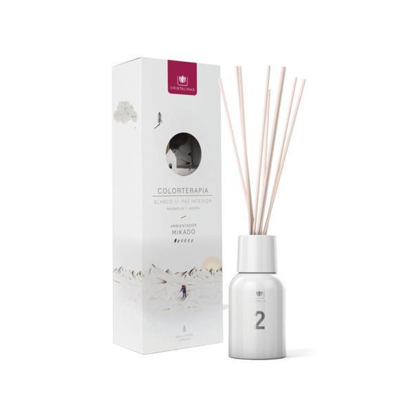 Odorizant camera Alb 0% alcool Cristalinas - pace interioară, magnolie si iasomie 125 ml esteto.ro