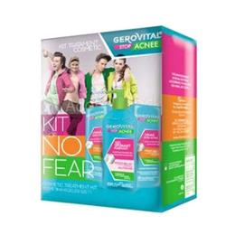 Kit Tratament Cosmetic - Gerovital Stop Acnee Kit No Fear - Gel Spumant Purifiant, Crema Gel Sebum Control, Crema Ultra-Activa