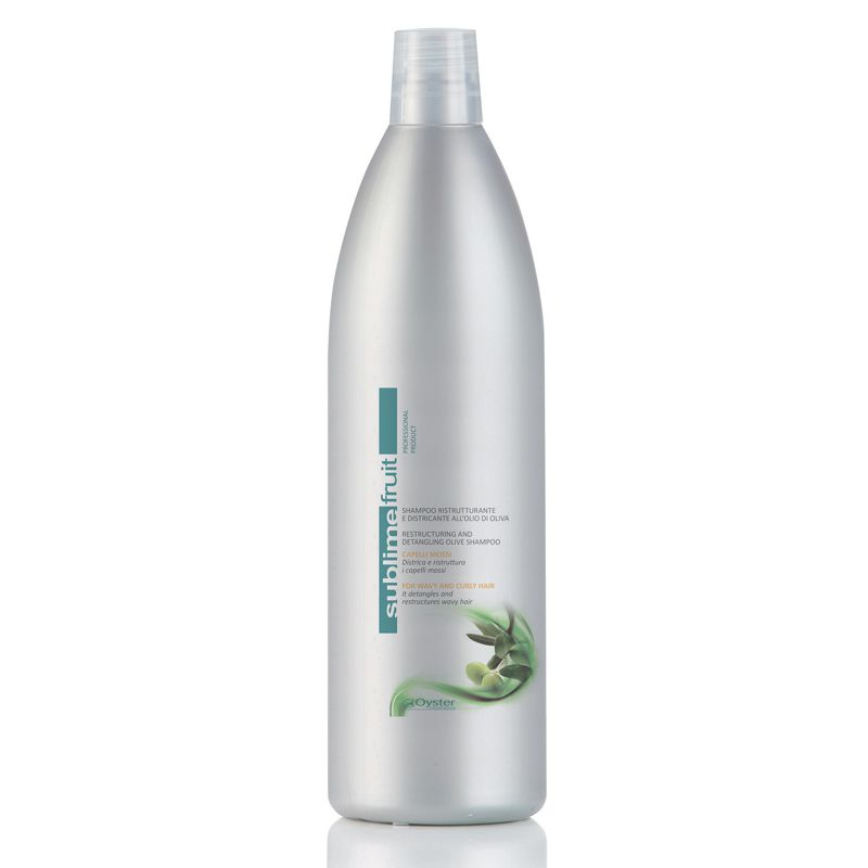 Sampon Restructurant si Anti-Incretire Par Ondulat - Oyster Sublime Fruit Restructuring and Detangling Olive Shampoo 1000 ml imagine
