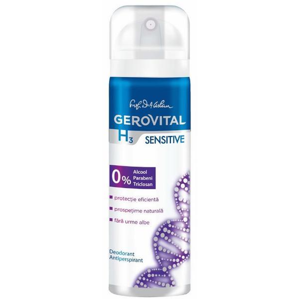 Deodorant Antiperspirant Gerovital H3 Evolution - Sensitive, 150ml imagine produs