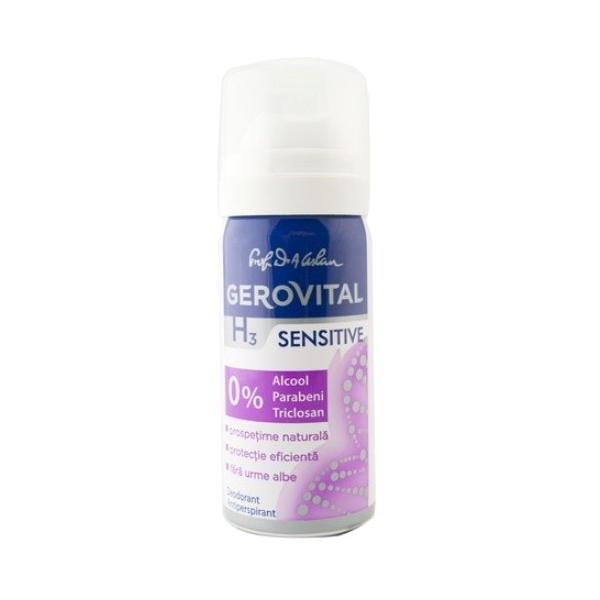 Deodorant Antiperspirant Gerovital H3 Evolution - Sensitive, 40ml imagine produs