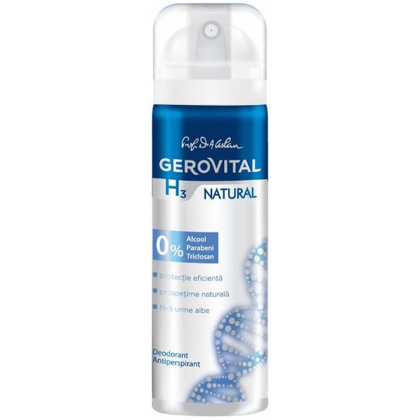 Deodorant Antiperspirant Gerovital H3 Evolution - Natural, 150ml imagine produs