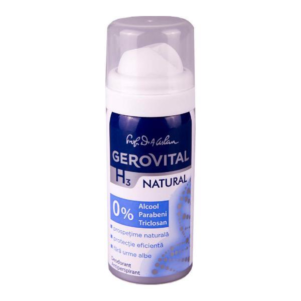 Deodorant Antiperspirant Gerovital H3 Evolution - Natural, 40ml imagine produs