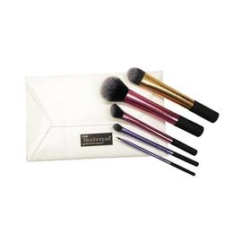 Set 5 pensule machiaj Real Techniques Deluxe Gift, husa eleganta inclusa