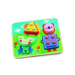 Puzzle indemanare pentru bebelusi - KikouPlock - Djeco
