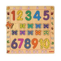 Puzzle din lemn - Cifre - Djeco