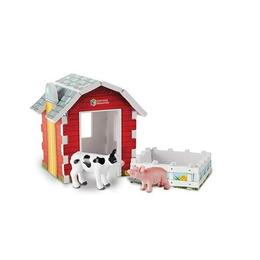 Set figurine mari Animale ferma cu hambar - Learning Resources