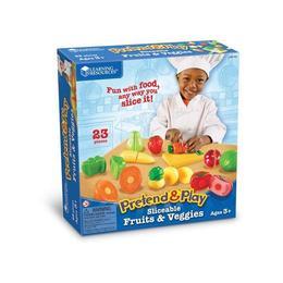 Joaca-te si imita - Set de taiat fructe si legume - Learning Resources