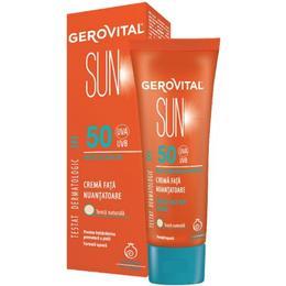 Crema Fata Nuantatoare SPF 50 - Gerovital Sun Tinted Face Sun Cream SPF 50, 50ml