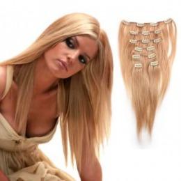 Extensii clip - on Veritable cu 12 piese, lungime 50 cm , culoare blond aramiu ( # 27 )