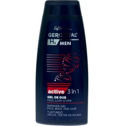 Gel de Dus 3 in 1 Fata, Corp si Par - Gerovital H3 Men Shower Gel Face Body and Hair - Active, 400ml
